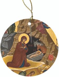 Nativity of Jesus Christ Icon Porcelain Ornament