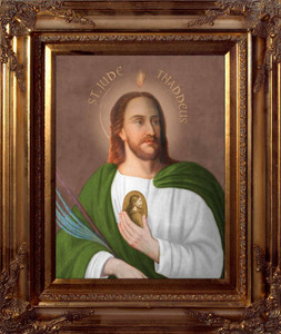 Saint Jude Canvas - Gold Museum Frame