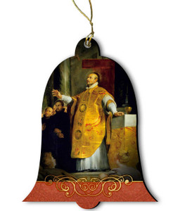 Saint Ignatius of Loyola Wood Ornament