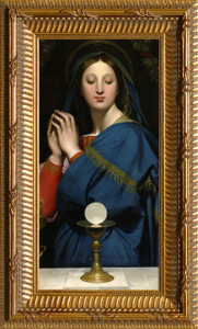 Madonna of the Host Church-Sized Framed Canvas Art