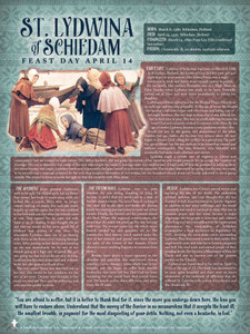 St. Lydwina of Schiedam Saints Explained Poster