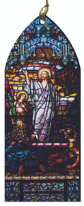 The Resurrection Stained Glass Wood Ornament