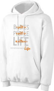 Culture of Life White Pro-Life Hoodie