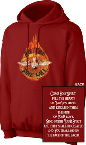 Holy Spirit with Fire Red Hoodie