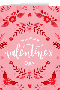 Happy Valentine's Day Pink Valentine's Day Greeting Card