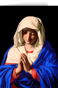 Mary in Prayer Greeting Card