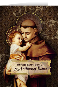 St. Anthony of Padua Feast Day Greeting Card