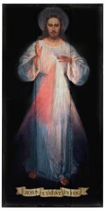 Divine Mercy (Vilnius) Rustic Wood Plaque