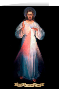 Divine Mercy Vilnius with Prayer Greeting Card