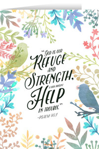 God is Our Refuge Greeting Card