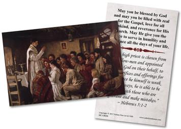 Mass in a Connemara Cabin Ordination Holy Card