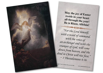 Christ Rising from the Grave Holy Card