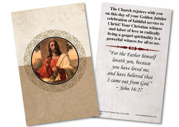 Last Supper Golden Jubilee Holy Card
