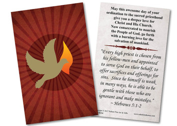 Holy Spirit Ordination Holy Card