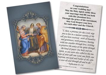 St. Joseph & Mary Wedding Holy Card