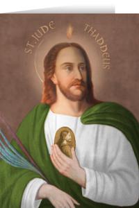 Saint Jude Thaddeus Greeting Card