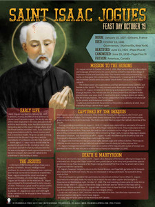 St. Isaac Jogues Saints Explained Poster