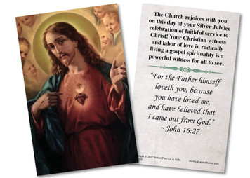 Sacred Heart Silver Jubilee Holy Card