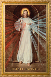 Divine Mercy by Robert Skemp - 12x20 Framed Print