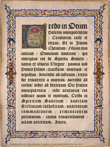 Latin Apostles Creed Poster