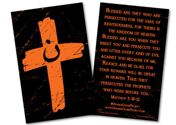 Orange Cross Project Prayer Card