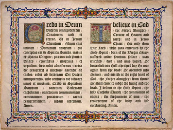 Latin-English Apostles Creed Poster