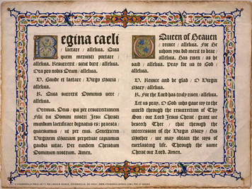 Latin-English Regina Caeli Poster