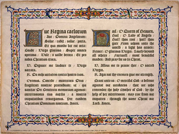 Latin-English Ave Regina Caelorum Poster