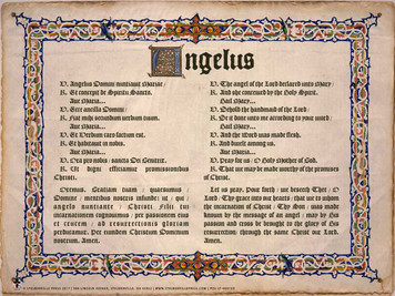 Latin-English Angelus Poster