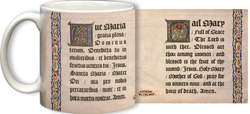 Latin-English Hail Mary Mug