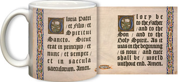 Latin-English Glory Be Mug