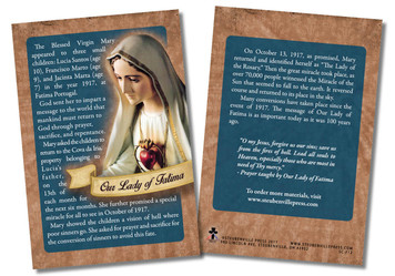100 Year Anniversary Our Lady of Fatima Faith Explained Card - Pack of 50