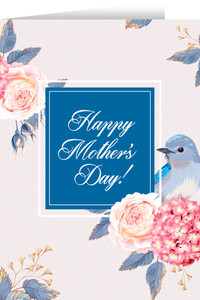 Happy Mother's Day Blue Bird Greeting Card