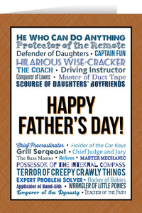 Happy Father's Day Father's Day Greeting Card