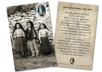 Children of Fatima 100 Year Anniversary Holy Card