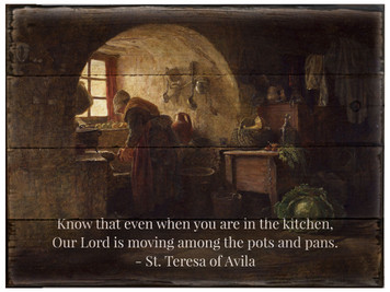 Our Lord is Moving St. Teresa of Avila Rustic Wood Plaque