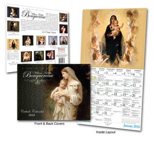 Catholic Liturgical Calendar 2018: William Bouguereau