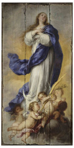 Immaculate Conception Rustic Wood Plaque