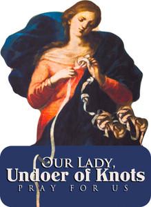 Mary Undoer of Knots Cutout Magnets