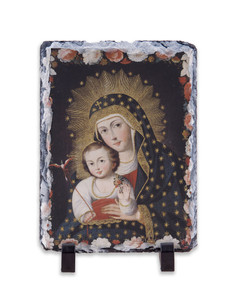 Madonna and Child with Bird Vertical Slate Tile