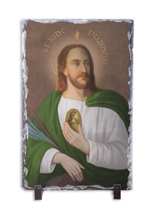 Saint Jude Thaddeus Vertical Slate Tile