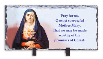 Sorrowful Mother Prayer Horizontal Slate Tile