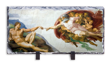 The Creation of Adam Horizontal Slate Tile