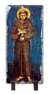 St. Francis by Cimabue Vertical Slate Tile