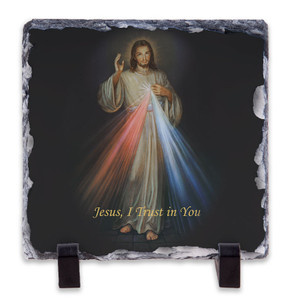 Divine Mercy Square Slate Tile
