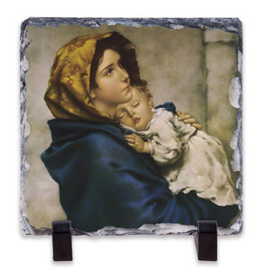 Madonna of the Streets Square Slate Tile