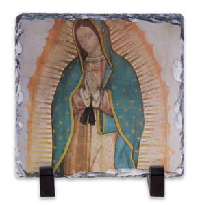 Our Lady of Guadalupe Detail Square Slate Tile