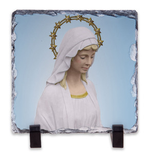 Our Lady of Good Help Square Slate Tile