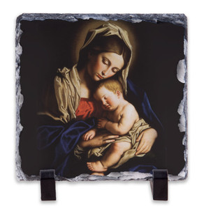 Madonna and Her Child Square Slate Tile