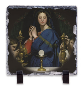Madonna of the Host Square Slate Tile